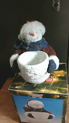 Holiday Gifts~ Snowman Holding Candy Dish By Young's Inc.