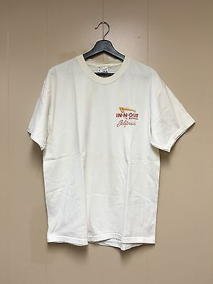 Vintage In-N-Out Burger 50th Anniversary Size L 90s White Tshirt California