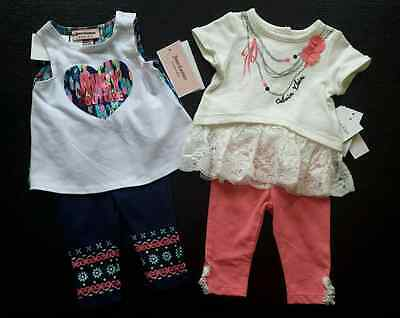 Lot of NWT Juicy Couture Calvin Klein Baby Girl Outfit Set Summer 0 3 months