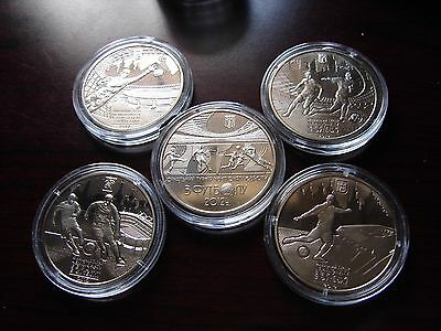 """Set of  5 Coins from 2011"""" EURO 2012 Soccer Ukraine-Poland  """""""