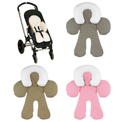 1x Two-sided Infant Padded Baby Pram Stroller Car Seat Head and Neck Support UK