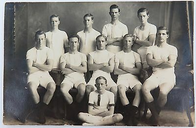 RARE c1917 REAL PHOTO POSTCARD IPSWICH GRAMMAR SCHOOL, ATHLETICS. J A HUNT