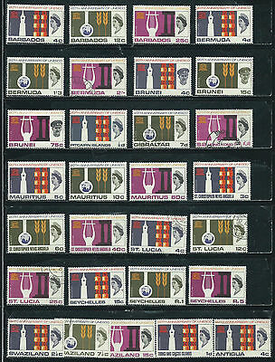 UNESCO Anniversary Issue - 1966-67 - 29 stamps mixed - Common Design Types