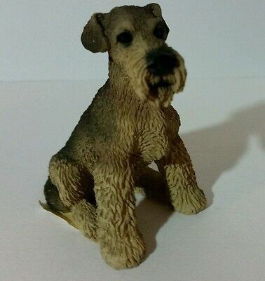 """Living Stone Airedale Terrier Dog 2.25"""" Miniature Figurine - 1990"""