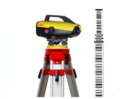 Leica Sprinter 150M Electric Level with 16.4ft bar-code Rod & Tripod Package