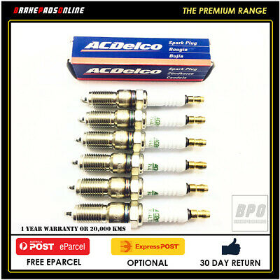 SPARK PLUG 6 PACK FOR Ford Falcon BF 4.0L 6 CYL Barra 190  10/2005 41602