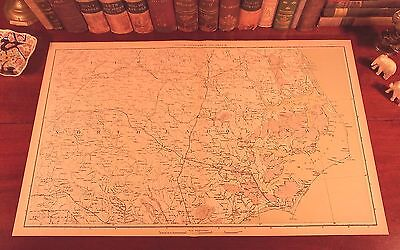 Antique CSA US Civil War Map NORTH CAROLINA Greensboro Raleigh Chapel Hill NC