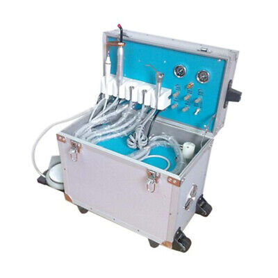 Dental Portable Delivery Unit Rolling Case curing light+ultrasonic scaler 4 HOLE