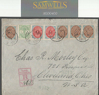 MS400 Danish West Indies DWI *ST.THOMAS* Spectacular 47c Rate Registered Env USA