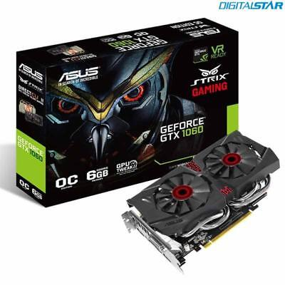 ASUS ROG Strix GeForce GTX1060 OC 6Gb Silent PCIe VR Gaming Graphics Video Card