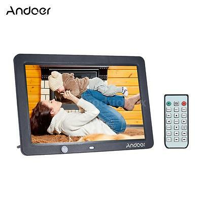 12inch HD LED Digital Photo Frame Picture Movie Player Alarm Auto Induction O7H6