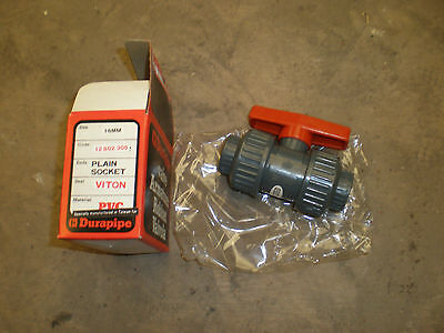 16mm PVC/ABS Ball Valves Solvent Weld Double Union Durapipe