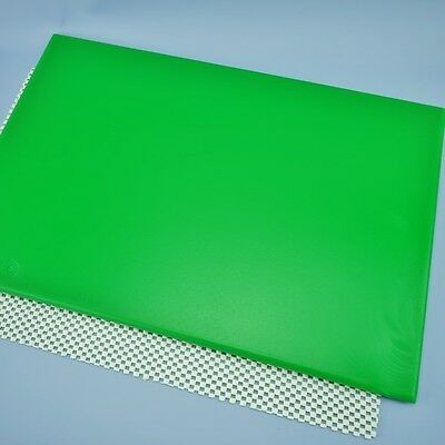 "Non Stick Rolling Out Board, Cake Decorating Board 18"" x 12"" Green And White"