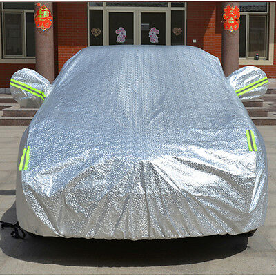 3 Layer XL Waterproof Double Thicker Car Cover Rain Resistant UV Dust Protection