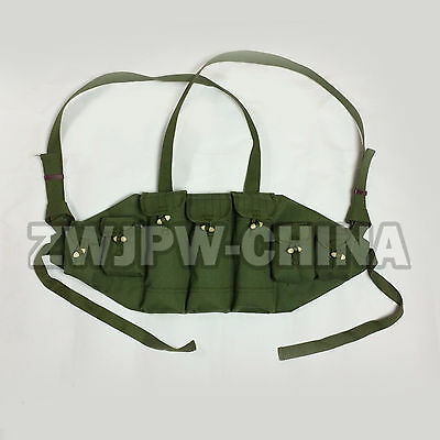 VIETNAM WAR China Ammo Pouch Rig For AK-47 Cartridg Pouch 4 Clips Replica