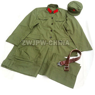 China PLA Red Army Military Type 65  Uniform Suits Jacket and Pants Green Color