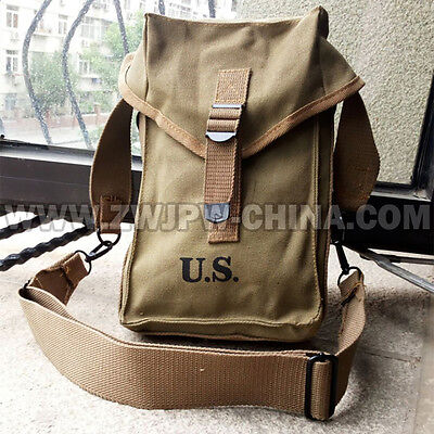 Wwii Us Amry Military General M1 Purpose Ammo Bag With Strap Bag Beautiful Pouch