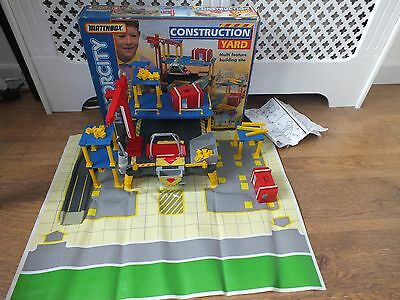 Matchbox Motorcity Construction Yard 1996 Children Classic Vintage Toy Set 99%