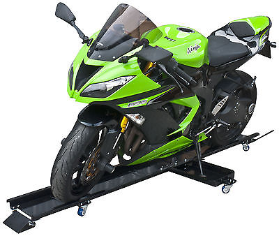 Motorcycle Dolly Motorcycle Stand Steel 450 kg Side Stand Included Parking Mover