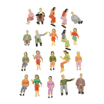 Scale 1:25 Painted Seated Model Train Passenger People Figures Toy Gift Random