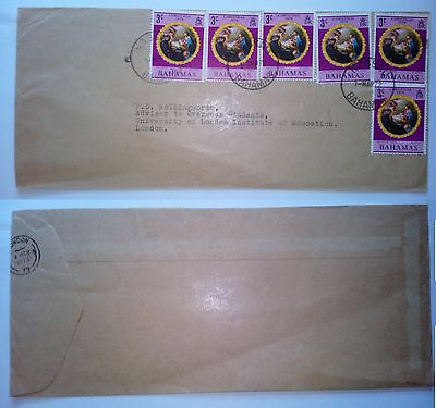 Bahamas Nassau 1972 Stamped Cover Registered Air Mail To  London Gb