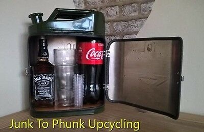Upcycled repurposed 10 litre jerry can mini bar party can vw campingman cave