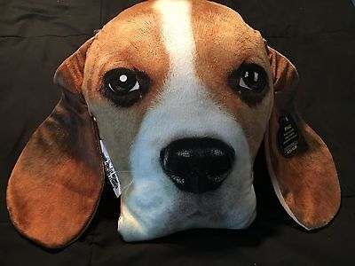 Beagle Dog Expressions Plush Pillow Realistic Looking