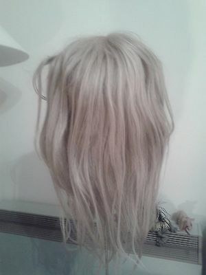 Beautiful Real Hair Blond Full Head Wig - 23 Inches Long