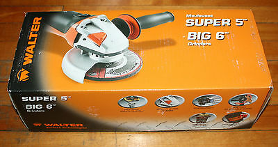 "Walter Model 6150H 30-A 150, 5""  Super-5 Angle Grinder Brand New"