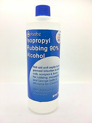 Daabz Isopropyl Rubbing Alcohol 90% Multipurpose First Aid Antiseptic & Cleaner