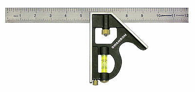 "HILKA Combination Square adjustable 12"" (300mm) Combination measuring set"