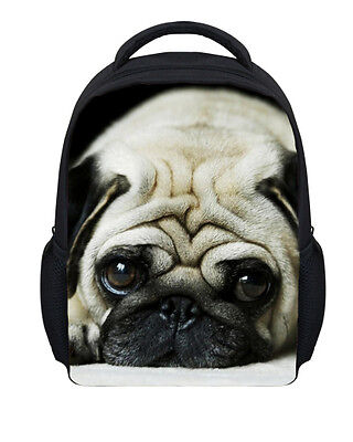 Pug Sleepy Kids Boys Girls Animal Dog Rucksack Children School Bag Backpack