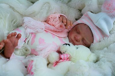 REBORN BABY GIRL FROM CHARLY SCULPT OLGA AUER ROOTED HAIR LTD EDITION rooted
