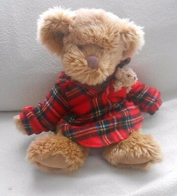Vintage Russ Berrie - Teddy Bear & Baby Bear In Pocket   - Soft / Plush Toy  (1)