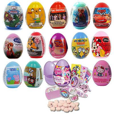 Character SURPRISE EGG - Sweets & Toys(Sold Singley)Party Gift{Fixed £2 UK p&p}
