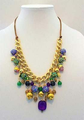 Mardi Gras Inspired Necklace