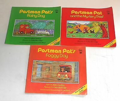 Vintage 1984 BBC TV Series ~ POSTMAN PAT ~ 3 x Story Books by Scholastic / Hippo