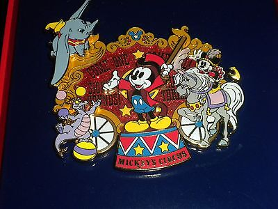 Disney Jumbo Pin Mickey Ringmaster Circus Figment Dunbo Moves Wdw Authentic New