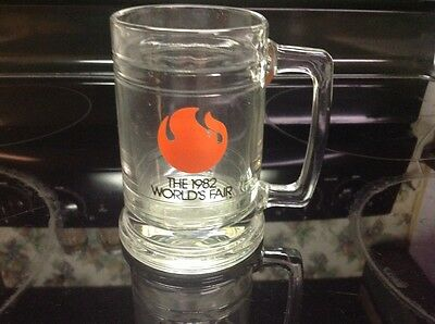 The 1982 World's Fair Knoxville Tennessee Glass Mug Stein