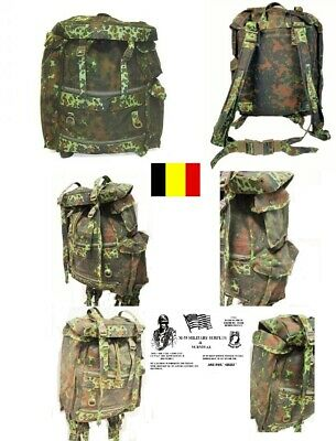 Belgium Military Paratrooper Backpack / Rucksack Flecktarn Camo - NEW OLD STOCK