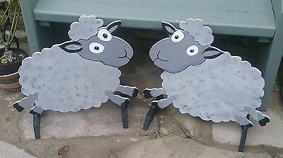 2 x JUMPING SHEEP shaped Horse show jump fillers wings pony show farm events