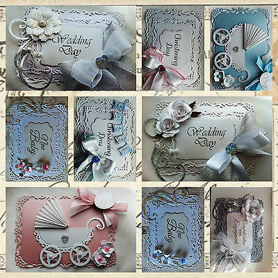 Handmade Die-cut Centura Pearl Card Toppers Rectangle