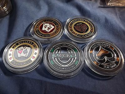 5x diff Poker Card Guard Protectors W/case FREE POSTAGE ~GREAT SELECTION LOOK #1