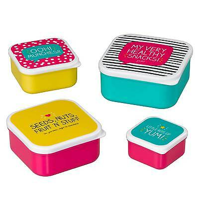 Set of 4 'Healthy Snacks' Snack Pots by Happy Jackson and Wild & Wolf