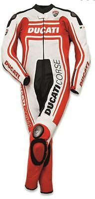 Valentino Rossi Ducati Motorcycle Motorbike Suit 1&2 Pcs Racing Leather Suit