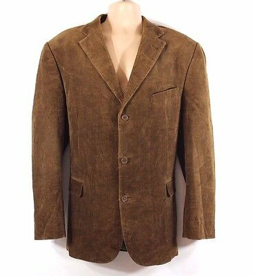 Brown Corduroy WATSON'S Fitted Tailored Men's Blazer Jacket Size XL ( 54 )