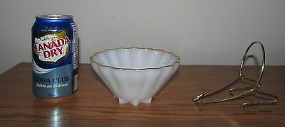 Vintage Anchor Hocking Rachael Chip and Dip Small Bowl & Bracket Hanger Only