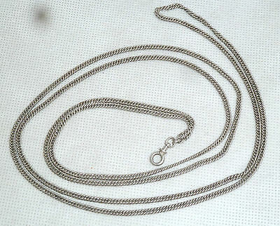 A Victorian Unmarked Silver Guard Chain With A Screw Type Clasp
