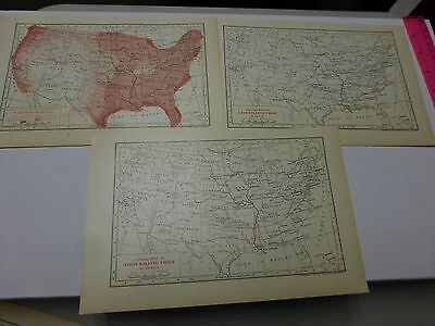 1902 Maps of Average Annual Humidity, First & Last Killing Frost in the US