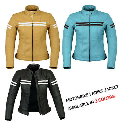 Motorbike Ladies Leather Jacket Motorcycle Women Armour New Style Warm Jacket